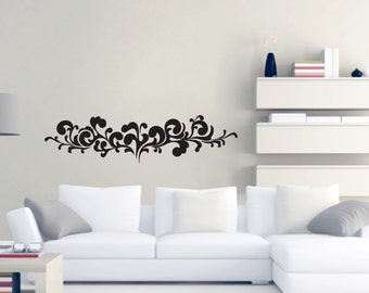 Ornate Flourish - Flowers and Shapes Wall Decal