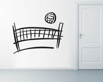 Volleyball Set - Sports Wall Decals