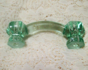 2 Drawer Pulls Glass Handles Coke Bottle Green Trim Project Toppers