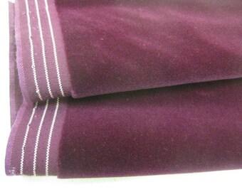 Antique velvet fabric Mauve velvet fabric Mauve pink velvet fabric Vintage velvet fabric German velvet fabric cotton velvet fabric