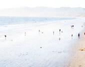 Santa Monica Photography Beach Print // Teal Blue Decor // Beach Photography California // Landscape Photography - Santa Monica Beach