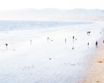 Pastel Los Angeles Dreams // Extra Large Ocean Photography // Santa Monica Beach Print // Fine Art Photography for a Large Wall Modern Home