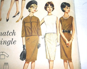 Uncut Vintage Butterick Seperates Pattern 2542 • size 10 . bust 31 inches