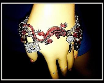 Fiery Red Hot Charm Bracelet