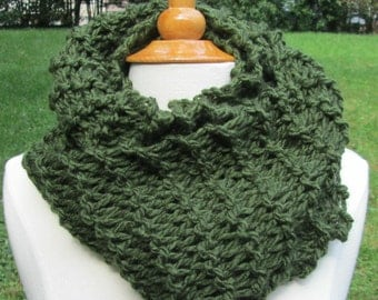 Forest Green Infinity Cowl Scarf Neck Warmer