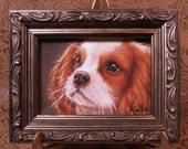 """Custom Original Pet Portrait Hand painted miniature 4"""" x 6"""" Oil Painting on canvas from your photo"""