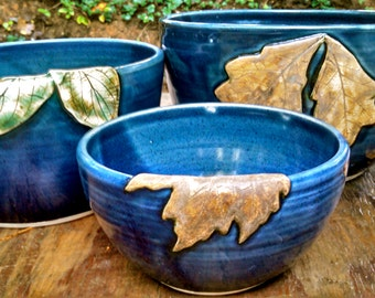 Bowl Set,  Nesting Bowls, Set of Three, Pottery Bowl Set, Made to Order