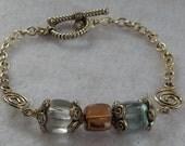 Silver Beaded Chain Bracelet Jewelry Handmade Beaded NEW Women Beaded Fashion