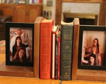 Photo Bookends in Walnut