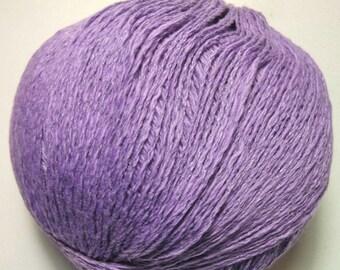 Juniper Moon Farm Zooey 17 Halyard Purple Soft Cotton Linen Blend 100 gram Yarn