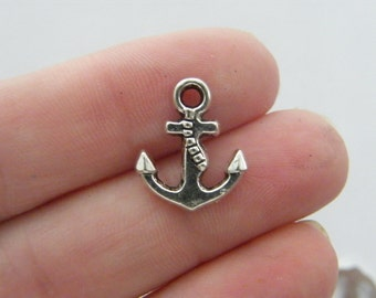 BULK 50 Anchor charms antique silver tone AN26 - SALE 50% OFF