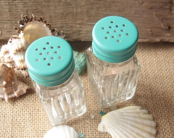 Sea Side Green Salt and Pepper Shakers
