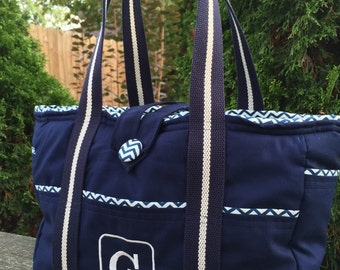 Customize your own! Large Bag- Diaper Bag- Work Bag- School Bag- Travel Bag, with Monogramming.