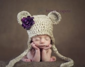 Baby boy hat, baby girl hat, crochet bear hat, twin bear hat, bear, baby shower gift, photo prop, coming home outfit, crochet hat, bear hat