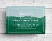 Print Your Own Company Retreat Invitation Mountain Getaway Invitation