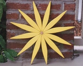 Cheerful Yellow Wooden Wreath to Brighten Your Day  available in 10 Colors for Outdoor & Indoor Home Decor handcrafted by Laughing Creek