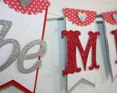 Be Mine Banner - Valentines Day Decor - Valentines Day Banner - Valentines Day Photo Prop - Be Mine