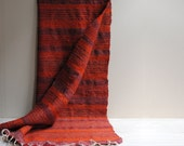 Vintage Handwoven Striped Area Rug from Poland 1970s  / 6' x 3.75'