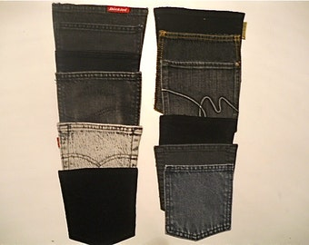 20 Recycled Black Jeans Pockets