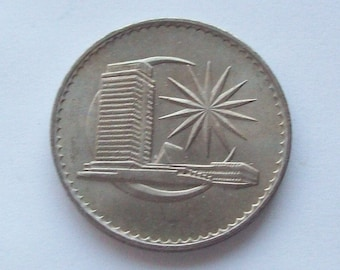 1971 Malaysia Ringgit S 1 Coin Large Coin