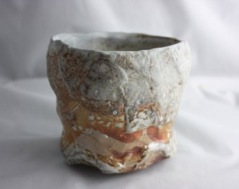Soda-fired stoneware cup