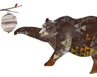 Bears Love Honey! Print of original painting