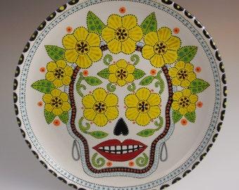 Day of the Dead or Dia de los Muertos plate