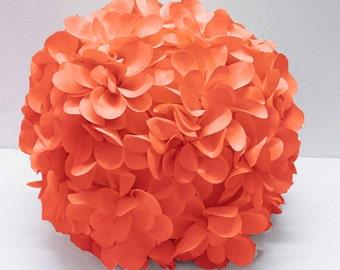 coral flower pillow round pouf circular pillow fibre pillow nursery decor baby pillow sofa pillow bedroom decor wedding home decor gift