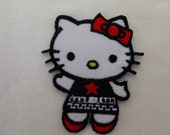 Hello Kitty, Sewing, Iron on, Patch, Applique, Pink, Supplies, Cute, Notion, Bow, Embroidered, Trim, Decoration, Scrapbooking, Pink