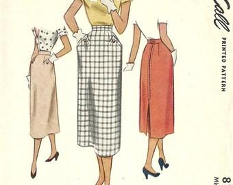 McCall 8159 // Vintage 50s Sewing Pattern // Skirt // Waist 26