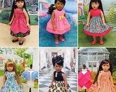 """18 inch Doll Dress Pattern, 18 in Doll Dress,18"""" Doll Clothes, Simplicity Sewing Pattern 1220"""