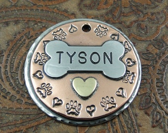 Custom Dog Tag-Pitter Patter Paws-Pet ID Tag-Dog Collar ID Tag-Personalized Dog Tag