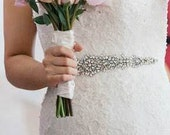 Irina Wedding Sashes Bridal Dress Jeweled Beaded Crystal Belt Embellished Sash Applique