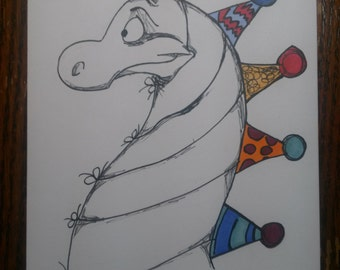 Happy Birthday Hats Card