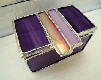 Purple Stained Glass Jewelry Box