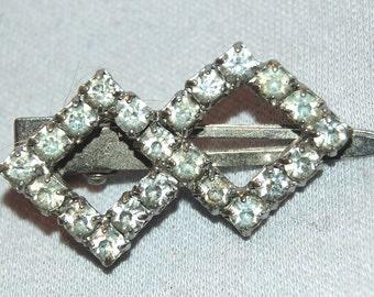 Vintage / Hair Clip / Rhinestone  / old jewelry jewellery