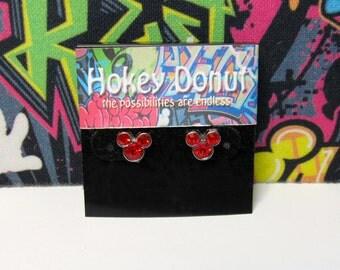 Mickey Mouse July Birthstone Stud Earrings