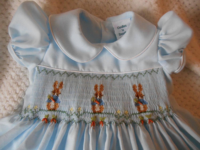 Smocked Dress Beatrix Potter's Peter Rabbit Birthday