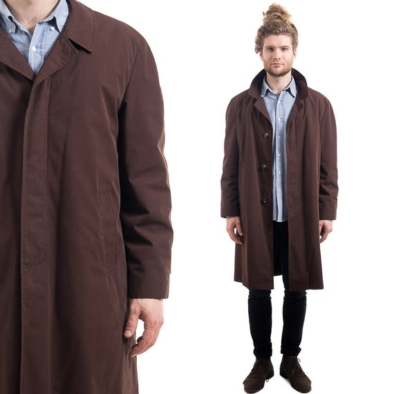 Mens Long Raincoat Trench Coat - Tradingbasis