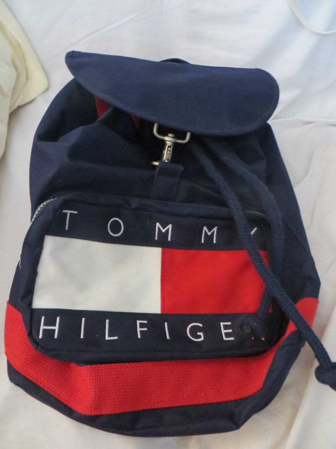 vintage tommy hilfiger sac sac dos canvas vintage. Black Bedroom Furniture Sets. Home Design Ideas