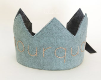 Pourquoi?(Why?) Felt Embroidery Crown for Children