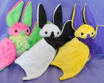 Bat Plushie CHOOSE YOUR COLORS  - Made to Order