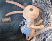 Urban Bunny, a Primitive Folk Art.