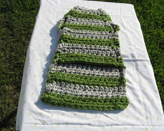 Grey and green stripes dog sweater, large breed sweater, sweater for bigger dogs, pitbull sweater.