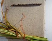 Beautiful crisp iris leaf handmade paper