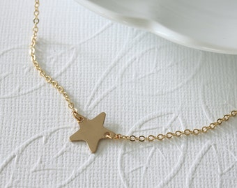 Gold Filled Star Necklace - Small Star Necklace - Casual Necklace - Everyday Jewelry - Dainty Necklace - Simple Necklace