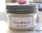 15 Wedding Favor Soy candle rustic unique favor-all natural-Lace and heart decor 4 oz mason jar 15 pkg