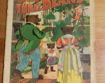vintage The Three Bears, M. A. Donohue & Co Chicago, New York  illustrated childerns book