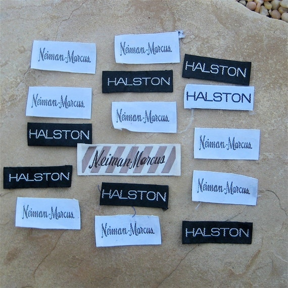 Vintage Garment Labels Designer Clothing Tags Halston High
