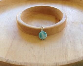 Larimar pendant Larimar coin pendant (chain not included) simple clean minimalist jewelry